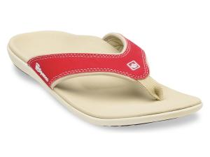 2735357d0223 Spenco Yumi Nubuck True Red Women s Total Support Sandals Thong Flip Flops